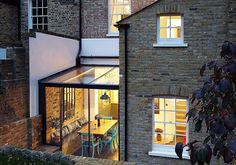 HÛT adds jewel-like glass extension to east London house x - Cool Houses Pictures And Dream Home Unique Designs, Big, Medium Size And Small House Design Ideas Glass Extension, House Extension Design, House Design, Extension Ideas, Cottage Extension, Side Extension, London House, Marquise, House Extensions