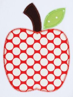 Items similar to 346 Zig Zag Apple Machine Embroidery Applique Design on Etsy