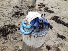 hand made sculpted hermit crab doll by DarkAngelLord on Etsy, $55.00