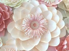 Flor de papel flores de papel CAMELIA mesa por SydneyPaperFlowers