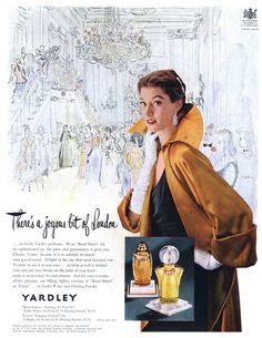 Yardley ad. 1950