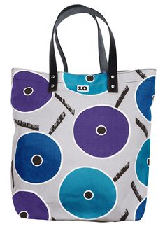 Tote bag in pattern Play II blue by Birgitta Hahn. The Fun Collection 2014. www.tiogruppen.com.