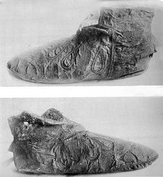 Shoes belonging to archbishop Hubert Walter, late 12th century, Cantebury Cathedral