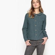373d21f3608c7 Chemise col claudine uni, manches longues PEPALOVES - Chemisier, blouse,  tunique