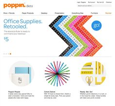 """Poppin.com - Office Supplies by Color"" by  Business, Office Supplies, Color"