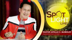 Watch another episode of Pastor Apollo C. Quiboloy's newest program, SPOTLIGHT. For your messages and queries, you can comment it down below so our Beloved P. December 26, Kingdom Of Heaven, T Lights, Son Of God, Praise And Worship, Apollo, Spotlight, Sons, Spirituality