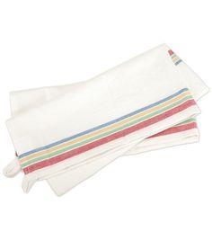 "Vintage Stripe Towel 18""X28"" 3/Pkg- White with Multi-Stripe"