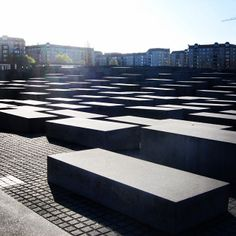 Memorial to the Murdered Jews of Europe, Berlin, Germany. Designed by architect Peter Eisenman and engineer Buro Happold, it consists of a 1...