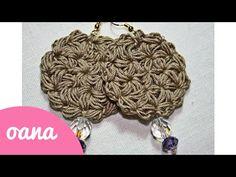 crochet jasmin earings - YouTube