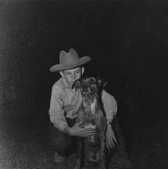 Catahoula Dog and Boy, Louisiana, 1949.