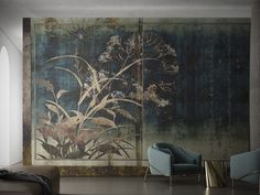 Wallpaper NARA mural by Italian Glamora, made on demand and scaled to fit any size, design tapete Nara, Casa Milano, Wall Murals, Wall Art, Stunning Wallpapers, Wall Finishes, Wall Treatments, New Wall, Best Interior