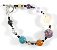 The Nine Planets Bracelet, Jasper and Agate (Dyed), Hematite, and Simulated Pearl, 8 Inches -- Want additional info? Click on the image.