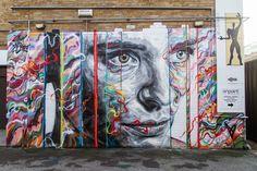 Street art in Shoreditch, London, UK, by artists David Walker and Jim Visio. Photo by David Walker. David Walker, Walker Art, Street Art London, Street Art News, Street Artists, London Art, Art And Illustration, Graffiti Murals, Street Art Graffiti