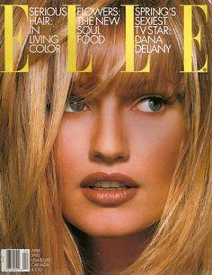 Karen Mulder, ELLE US April 1993