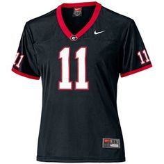 #Fanatics  Nike Georgia Bulldogs #11 Women's Replica Football Jersey - Black