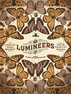 Lumineers - St Louis, MO by Status Serigraph