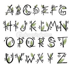 Ideas For Embroidery Letters Texts Alphabet Hand Lettering Alphabet, Doodle Lettering, Creative Lettering, Lettering Styles, Calligraphy Letters, Brush Lettering, Bullet Journal Font, Journal Fonts, Writing Fonts