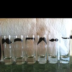 6 shot glasses made only 6 more to go for all my guys gifts!