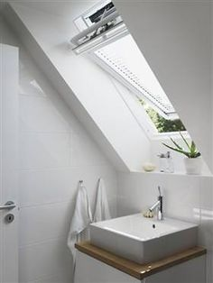 There are a huge range of sizes and styles of white frame VELUX windows to choose from. Perfect for any bathroom.