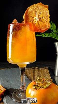 Persimmons, with their thick, sweet, juicy consistency, marry well with bourbon in this persimmon bourbon cocktail. Although it works equally well with a great rye whiskey, too. The baking spices, cinnamon, vanilla, and brown sugar in the whiskey tie in with the spiced, sweet pulp to mix up for the cocktails.   @cocktailcontessa #Persimmoncocktails #fallcocktail #wintercocktails #craftcocktails #bourboncocktailrecipes #craftcocktailsathome Bourbon Cocktails, Winter Cocktails, Craft Cocktails, Cocktail Recipes, Persimmon Pudding, Hard Apple Cider, Recipe Maker, Rye Whiskey, Cocktail Making
