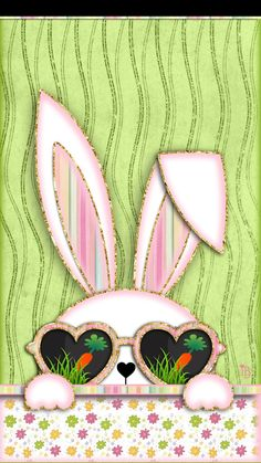 PETER COTTONTAIL~Tips from the Easter Bunny Don't put all your eggs in one basket There is no such thing as too much candy Some body parts shou. Easter Art, Hoppy Easter, Easter Bunny, Kitty Wallpaper, Iphone Wallpaper, Spring Wallpaper, Holiday Wallpaper, Bunny Crafts, Easter Crafts