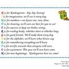 Super cute poem that can be printed on white cardstock for the first day of Kindergarten.  Attach a picture to the card, or on the reverse side, ad...
