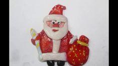 Новогодние поделки из соленого теста своими руками. Дед Мороз