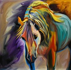 ARTOUTWEST DAILY PAINTING MARCH 3 WILD HORSES OF UTAH, painting by artist Diane Whitehead