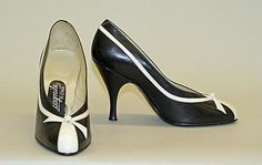Shoes (Pumps). ca 1956 Italian.