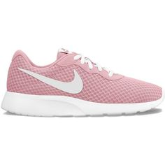 Nike Tanjun Women's Athletic Shoes ($65) ❤ liked on Polyvore featuring shoes, athletic shoes, dark red, nike, dark red shoes, synthetic shoes, flexible shoes and lightweight shoes