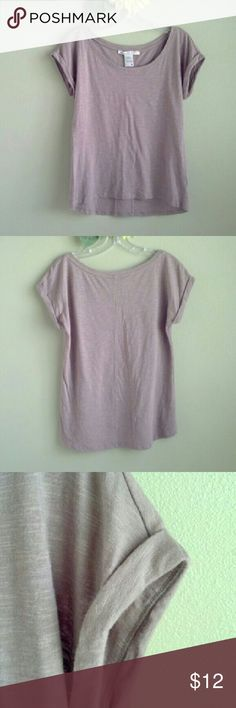 """American Rag Top Cuffed sleeves. Super soft!  60% cotton, 40% modal Washed once, but never wore. Excellent condition! Slightly higher in front than back. Approx 18"""" across chest, approx 23"""" front length, approx 25"""" back length. Light tan color...closer to last 2 photos.  No trades. No modeling. American Rag Tops"""