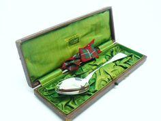 Antique Solid Silver Christening Spoon Sterling by DartSilverLtd