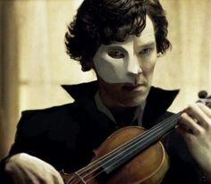 Sherlock/Phantom of the Opera fanart (not mine)