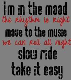 Foghat - Slow Ride - song lyrics, music lyrics