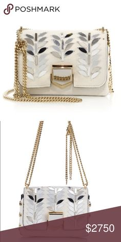 NEW AUTHENTIC Jimmy Choo Calf Hair Crossbody Bag NEW AUTHENTIC Jimmy Choo Lockett Embellished Calf Hair Crossbody bag with silver mirror embroidery, front and back. Unique & limited edition. Jimmy Choo Bags Crossbody Bags