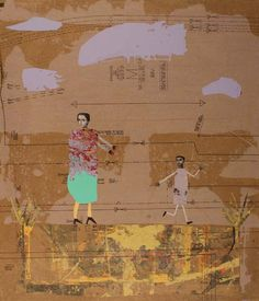 Mother and Son, 2010 collage by Holly Roberts