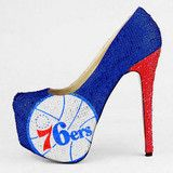 HERSTAR™ Philadelphia 76ers Limited Edition Crystal Pumps NBA Shoes
