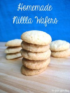 Homemade Nilla Wafers ★★★★ Very good! A little salty though!