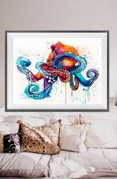 Aquarelle de poulpe imprimer, art Octopus, aquarelle animaux, illustration animale, art de la mer, art print, animal de poulpe Achetez deux Get one FREE ! Offre spéciale ! Acheter deux imprimé et en obtenir un gratuitement (de la même taille). Menvoyer les liens des 3 affiches que vous avez choisi dans la section « notes de vendeur » Vous recevrez les trois tirages que vous avez sélectionnés pour le prix de 2. Cest une copie de ma peinture originale. Imprimé spécialement pour vous…