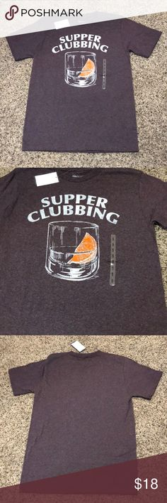 Supper clubbing men's graphic tee small nwt Supper clubbing men's graphic tee  small  60% cotton 40% polyester  New With Tags  Same day shipping print shop Shirts Tees - Short Sleeve