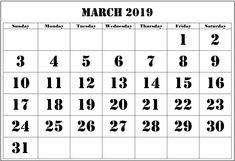 10 Best Printable Calendar 2019 images | Calendar, Printable
