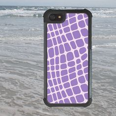 iPhone 5 5S Case Purple Croc Design by TRowanDesign