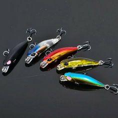 3d luminous night fishing lure floating fatty body crankbait metal hook tools AB