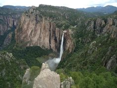 Basaseachi - waterfall on the river of the same name. #Mexico's second largest waterfall. The height of 246 m. Located in Basaseachi National Park. The waterfall is formed from two streams Arroyo del Durazno and Arroyo de Basaseachi.
