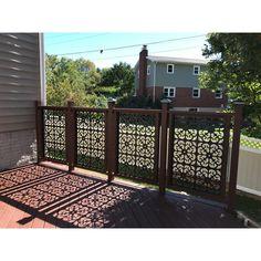 Garden Fence Panels, Patio Fence, Backyard Patio, Backyard Landscaping, Landscaping Ideas, Garden Paths, Deck Pergola, Garden Fencing, Fence Design