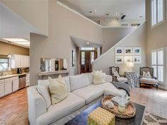 Open floor plan with wide planked pine floors, plantation shutters, and high ceilings 4500 Autumnleaf Holw, Austin, TX 78731