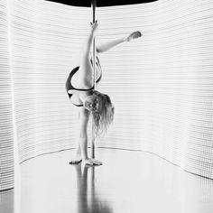 Stacey. taken at @enpointeaerial. Backlit with LED Strip lighting. #lightpainting #light #led #Longexposure #longexposurephotography #poledancer #poledancing #pole #lowkey #nightshoot #night #canon #canon6D #abstract #studio #shoot #B&W