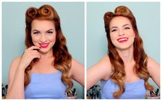 Pin-Up Hairstyles: Learn How to Style the Look at Home | Beauty High                                                                                                                                                                                 More