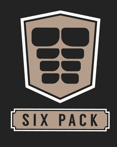 This stock image logo for a 'six pack' of abs has an eight pack