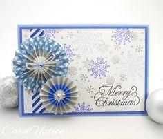 Washi tape rosettes Christmas card.